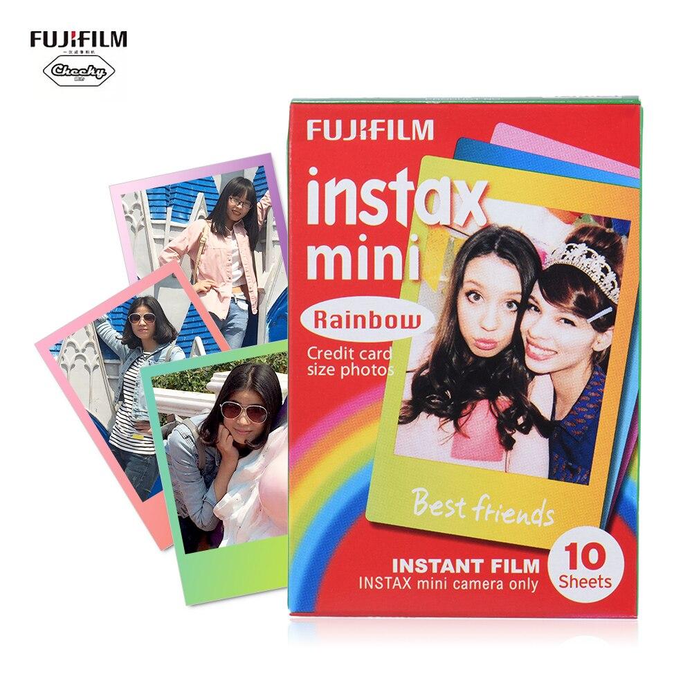10-100 hojas Fujifilm Instax Mini película foto papel impresión instantánea Arco Iris Snapshot álbum para Fujifilm Instax Mini 8/9/7s/25/90