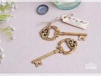 100 pcs vintage ancient key shaped wine beer bottle opener wedding party favor guest gift wedding present