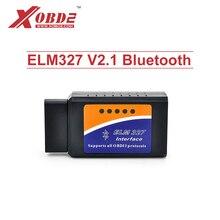 ELM327 V2.1 skaner Bluetooth działa na systemie Android moment obrotowy ELM 327 OBD2 CAN-BUS narzędzie diagnostyczne samochodów obsługuje wszystkie OBD2 protokołów