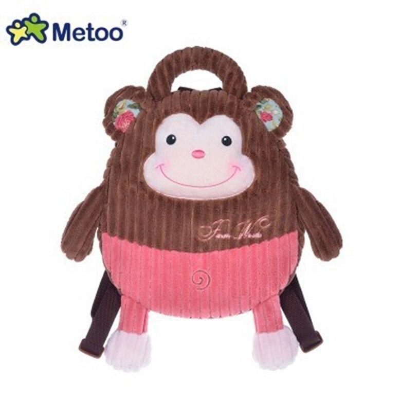 ¡Novedad! Mochila de peluche con dibujo de Metoo, 1 unidad, 35cm, animal, gato, Rana, cerdo, perro, ratón, mochila de felpa, bolsa para bebé, juguete de regalo para niños de guardería
