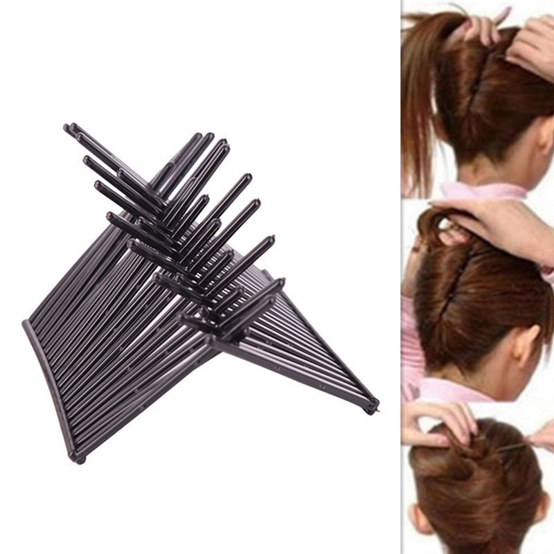 2 Pc Rabo De Cavalo Fofo Modelagem Disco Placa de Inserção Pente Hair Styling Ferramenta Preto Heighten Cabelo Pentes Grampo de Cabelo Acessórios Escova