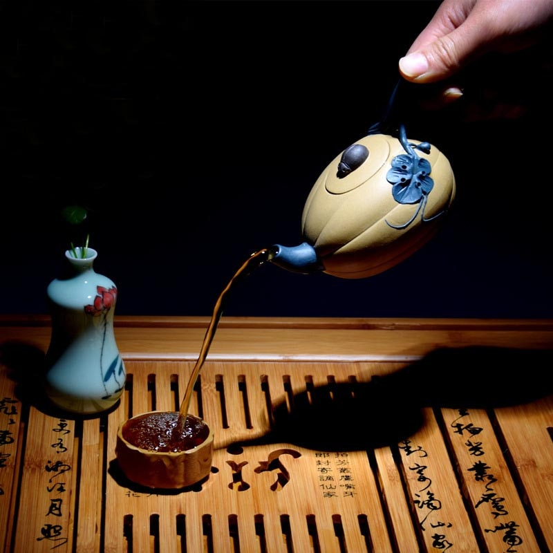 Tetera Yixing Zisha de 180ML hecha a mano con patrón de mineral en bruto de flores de melón Rural, tetera de arcilla púrpura, tetera creativa para ceremonia del té