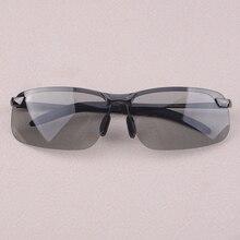 Black UV400 Men Polarized Photochromic Transition Lens Sunglasses Mens Outdoor Driving Fishing Sport