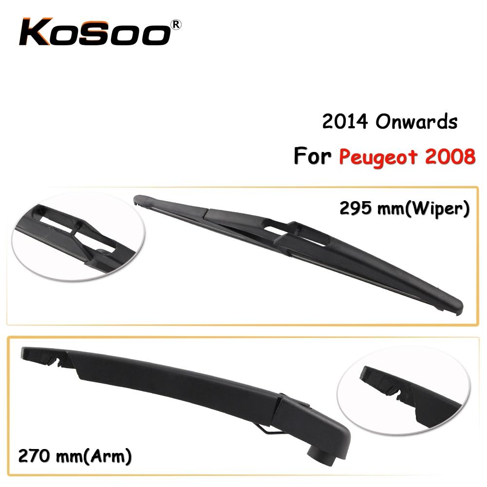 KOSOO Auto Rear Car Wiper Blade For Peugeot 2008,295mm 2014 Onwards Rear Window Windshield Wiper Blades Arm,Car Accessories