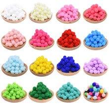 100 pièces 10/15/20/25mm Mini moelleux doux Pom Poms pompons balle à la main enfants jouets de mariage décor bricolage couture artisanat fournitures