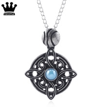 Collar The Elder Scrolls 5 collar Oblivion Morrowind amuleto de Mara collares redondos mujeres hombres joyería de moda