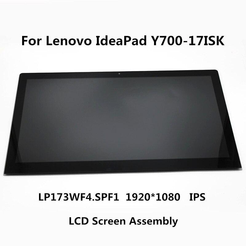 17.3 بوصة IPS LED LCD LP173WF4.SPF1 الجبهة الزجاج شاشة عرض الجمعية لينوفو IdeaPad Y700-17 Y700-17ISK 80Q0 ، غير اللمس