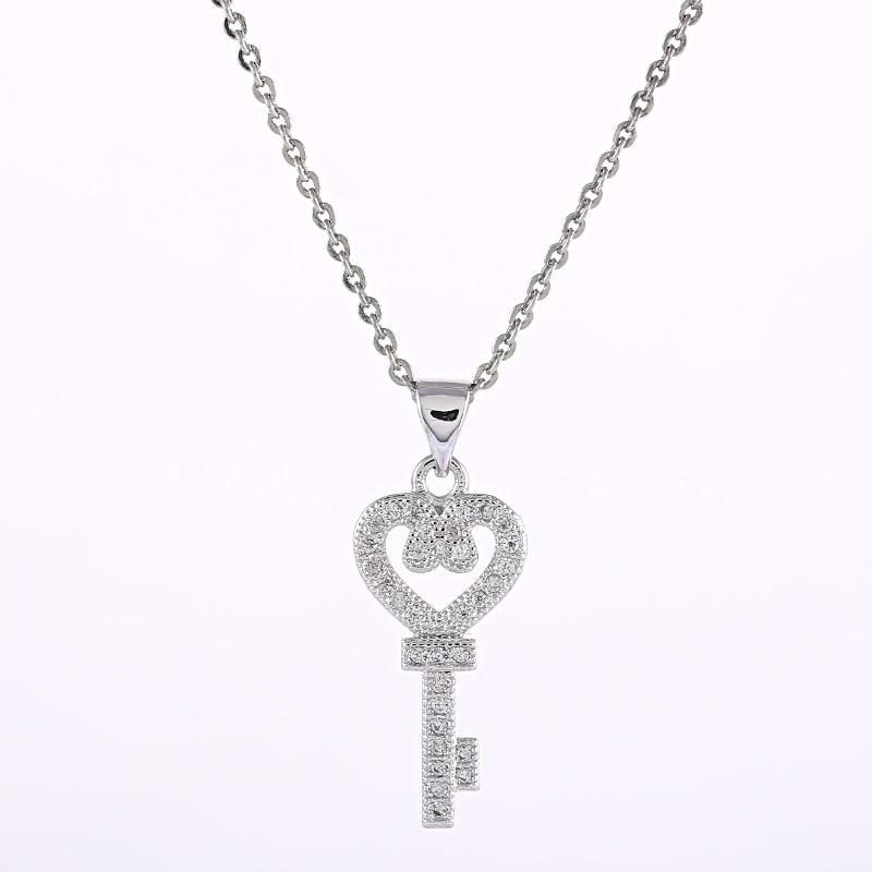 Винтажное ожерелье и кулоны с сердечком, Лидер продаж, элегантные Плавающие Подвески из кубического циркония AAA, женское ожерелье на свадьб...