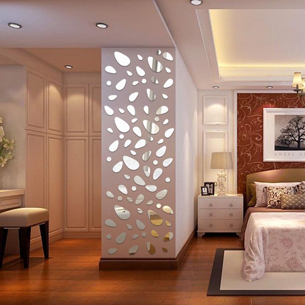 2020 DIY pegatinas de pared de 12 Uds pared calcomanía calcomanías de decoración para el hogar 3D espejo papel tapiz de vinilo extraíble para vivir dormitorio