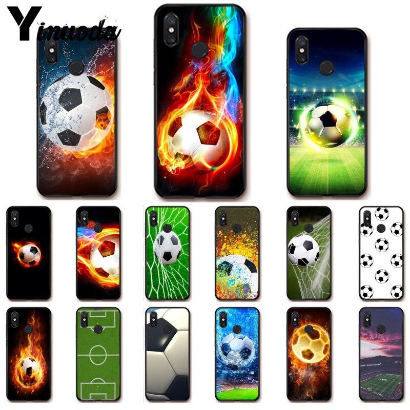 Yinuoda Football Soccer Ball water fire sport PhoneCase for Xiaomi Redm4X 6A 5A 7A Redmi5 5Plus Note8 8Pro 7 mi A1 A2 Lite