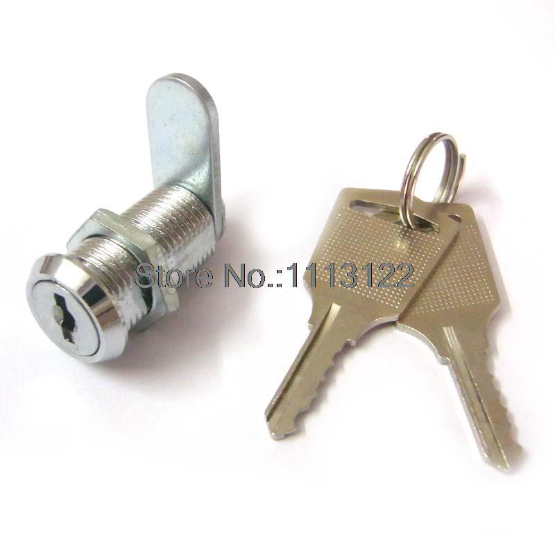 Buzón de correo pequeño de aleación de Zinc, cerradura de leva cromada, mini cerradura de acrílico para exhibición, cerradura de armario de muebles en miniatura para M12-20mm, 1 unidad