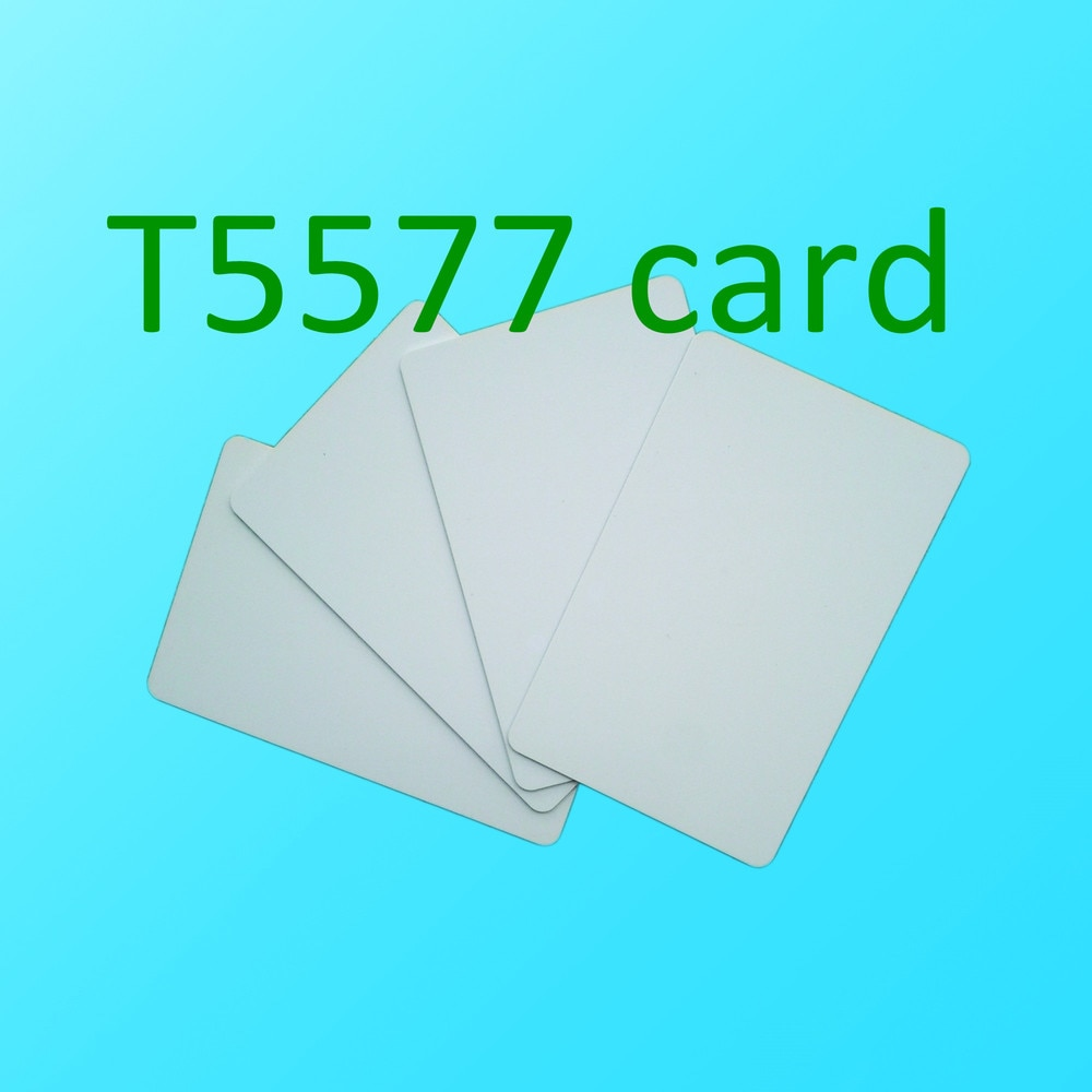 200PCS 125KHZ RFID de chip en blanco blanco regrabable ATMEL T5577 hotel tarjeta llave