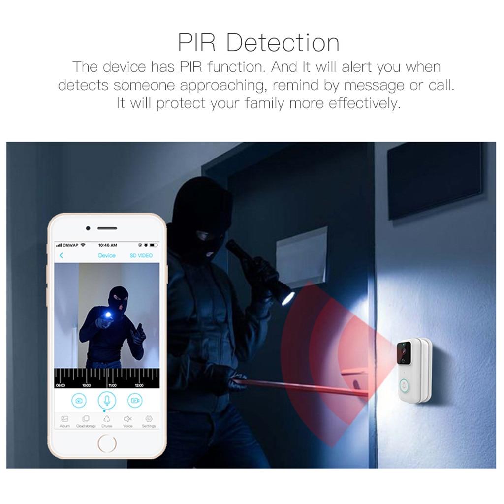 WIFI Video Doorbell Smart Wireless Doorbell 1080P HD Wifi Security Real-Time Video Two-Way Talk PIR Motion Detector Camera