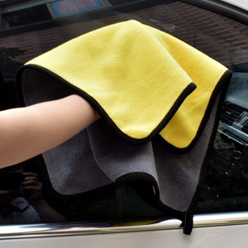 30*30CM Car Wash Microfiber Towel Cleaning Drying Cloth Hemming Car Care Cloth Detailing Wash Towel Car-styling