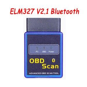 Image 2 - 2019 Новый HH OBD ELM327 V2.1 Bluetooth Мини OBD2 автомобильный диагностический инструмент ELM 327 Bluetooth для Android/Symbian для протоколов OBDII