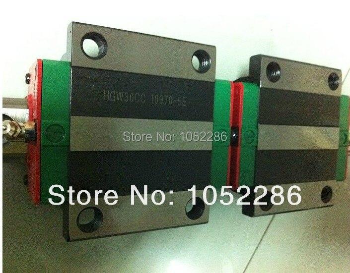 100% العلامة التجارية الجديدة Hiwin خطي السكك الحديدية دليل 2 قطعة HGR15 L1300mm + 4 قطعة HGW15CA مشفه كتلة