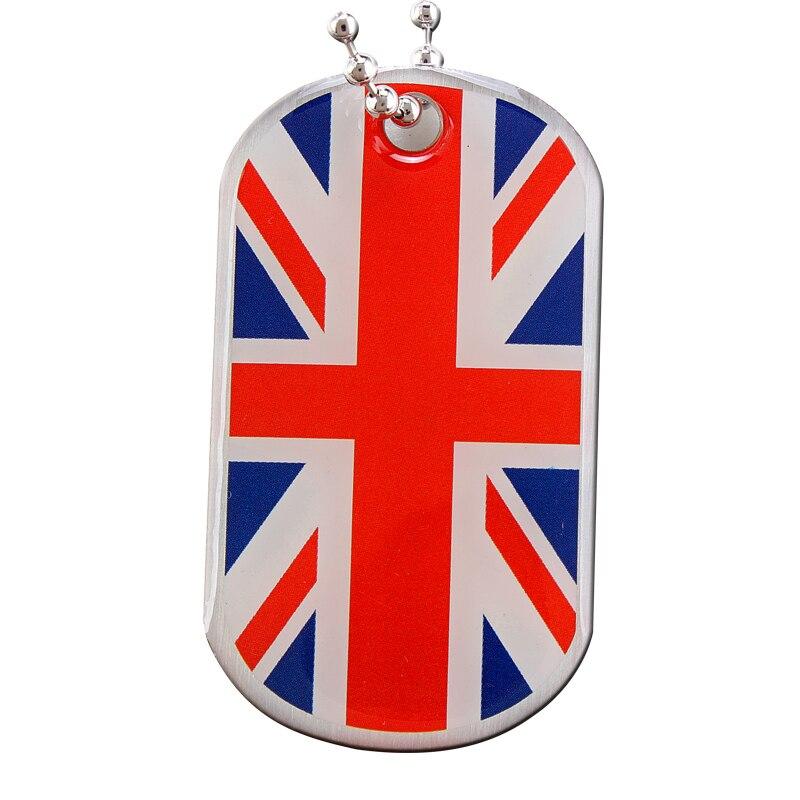 المخصصة Uk العلم العسكرية شارات كلاب معدن رخيص حسب الطلب علامة الكلب