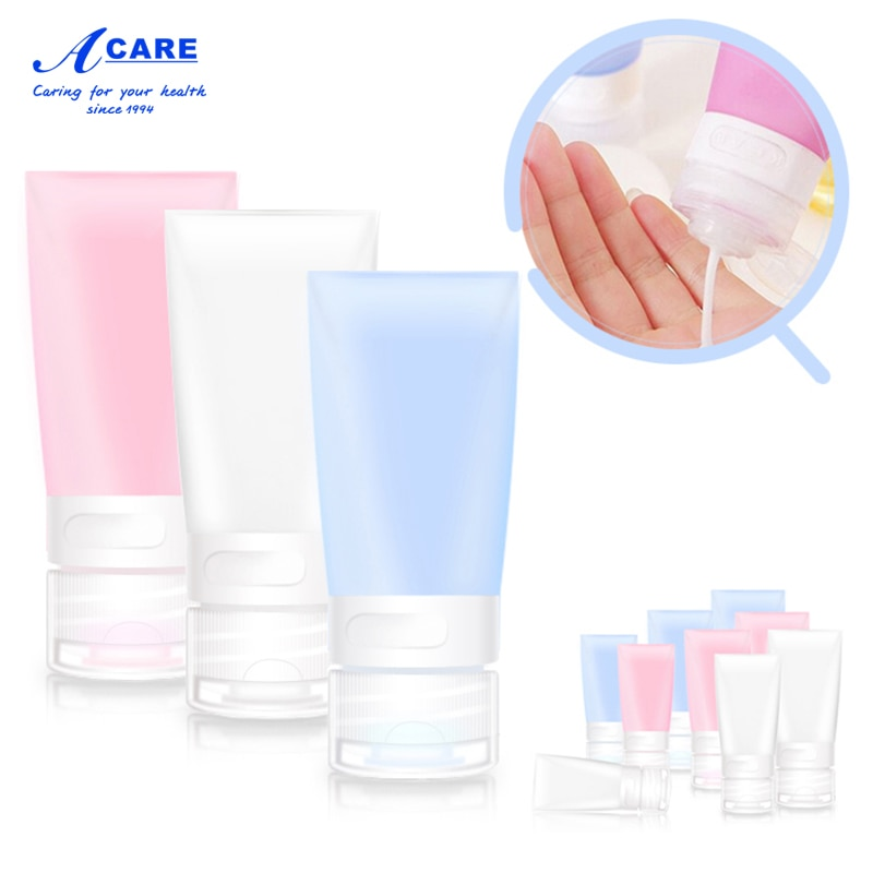 refillable bottles travel face cream lotion cosmetic container plastic empty makeup container jar pot Refillable Bottles Travel Portable Face Cream Lotion Cosmetic Container Empty Makeup Container Small Bottle Tool Silicone Case