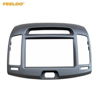 FEELDO Car 2Din DVD Radio Fascia Frame for Hyundai Elantra 2006-2011(Korean Type LHD) Stereo Face Panel Trim Kit