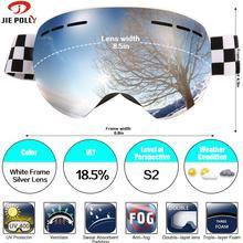 Jiepolly magnétique Ski Snowboard lunettes masque de Ski sphérique Anti-buée double couche lentille neige Ski lunettes pour femmes hommes et jeunes