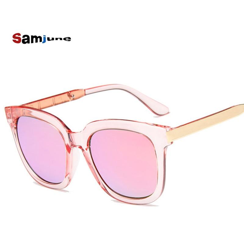 Samjune 2018 Top Brand Designer Sunglasses Women Men Luxury Round Candies Lens Lady Round Sun Glasse