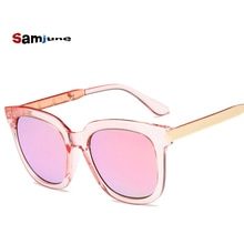 Samjune 2018 Top Brand Designer Sunglasses Women Men Luxury Round Candies Lens Lady Round Sun Glasse