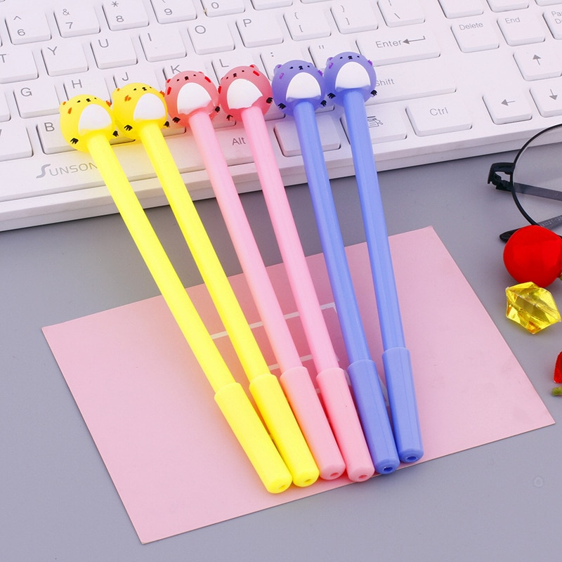 36pcs Korean creative stationery cute cartoon neutral pen signature