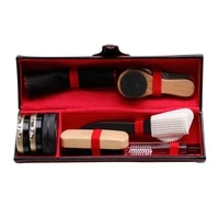 1 set new leather shoes polish cleaning kit keep shiny clean tools shoes bags sneakers high heels cleaning appliances hogard
