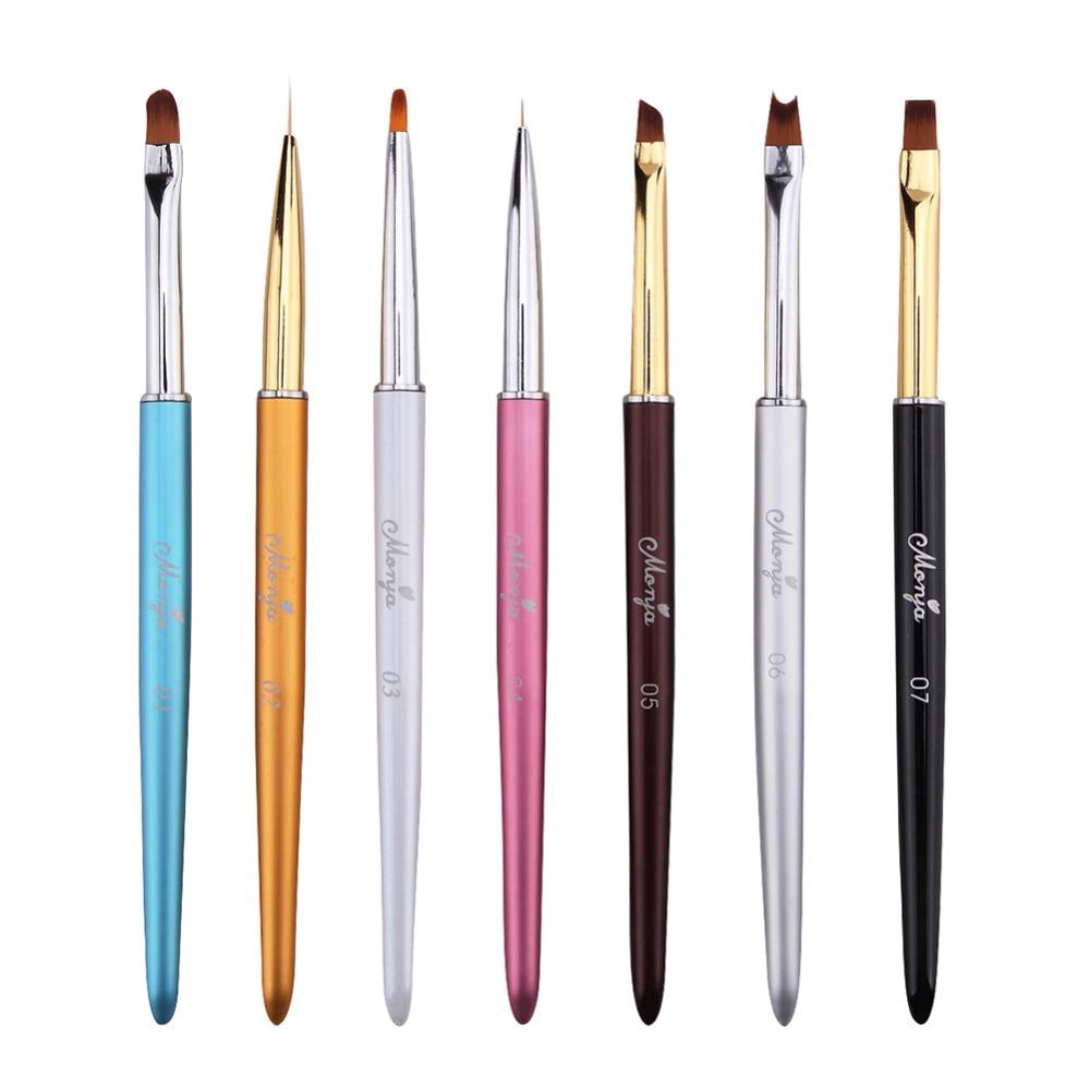 ELECOOL, 1 unidad, cepillo para uñas, terapia de luz, mango multicolor con gradiente de dibujo, Gel UV, herramienta de belleza para uñas, cepillos para manicura