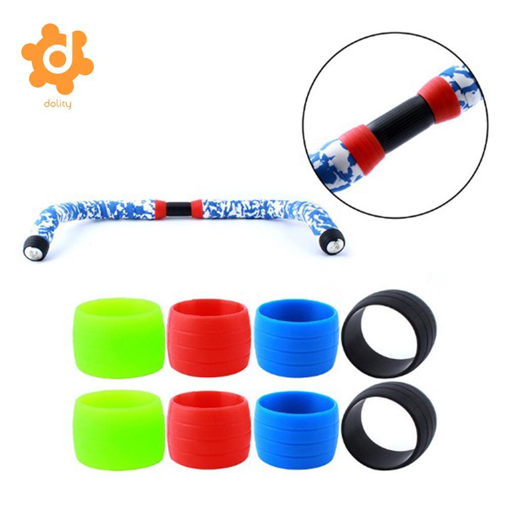 2 uds, anillo de fijación de silicona, manga de bucle para bicicletas de carretera, cinta para manillar de bicicleta, cinta para envolver, cinta para ciclismo