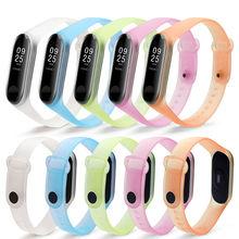 Transparent mi band 4 wrist strap for xiaomi mi4 smart bracelet pulseira for miband 4 strap replacement silicone accessories