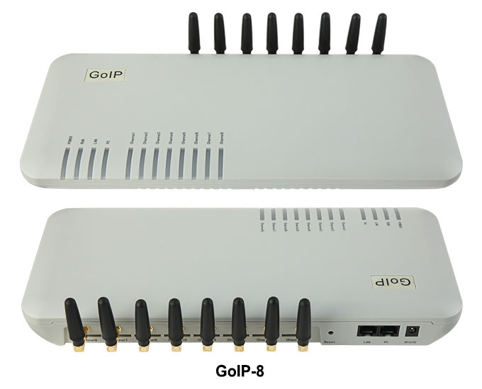 GoIP 8 منافذ gsm بوابة/voip sip بوابة/IP GSM بوابة/GoIP8 VoIP GSM بوابة دعم SIP/H.323-ترويج المبيعات