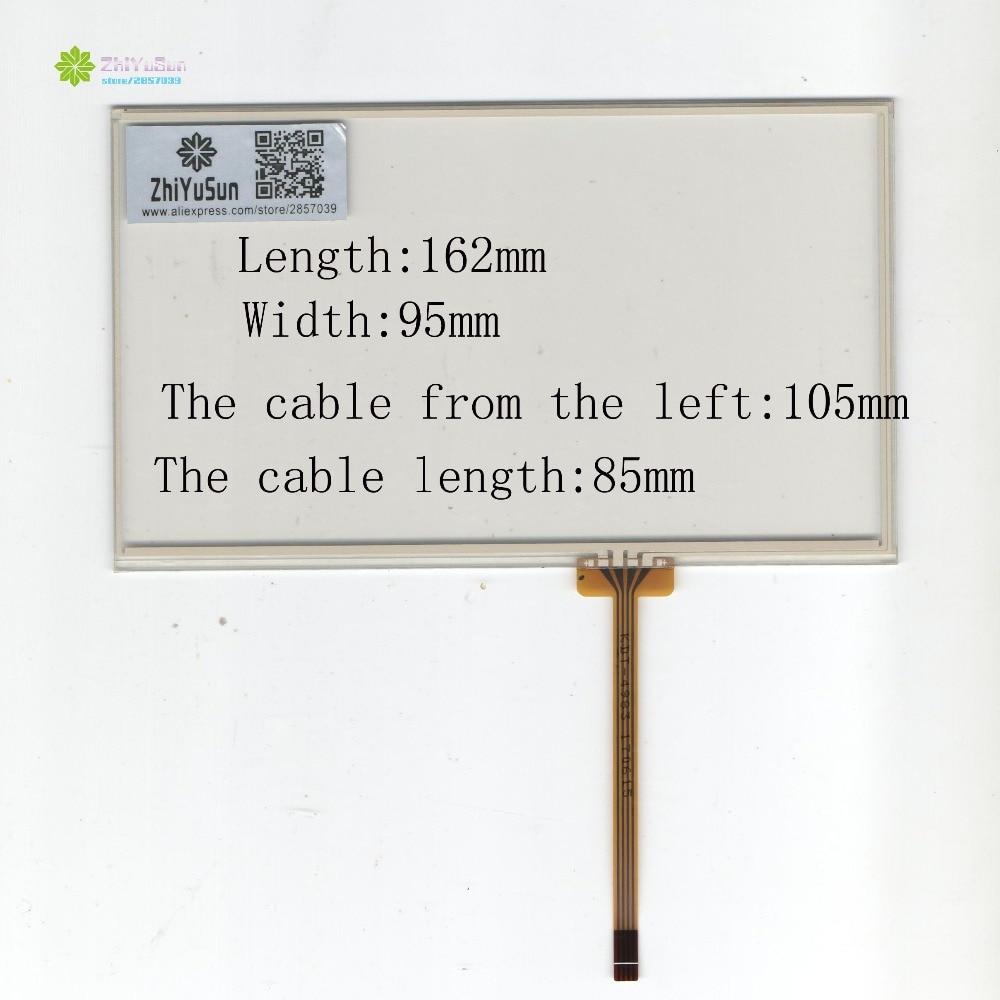 ZhiYuSun KDT-4983 7 pulgadas 4 lins pantalla táctil cristal 162mm * 95mm sensor táctil 162*95 digitalizador de cristal táctil vidrio de buena calidad assur