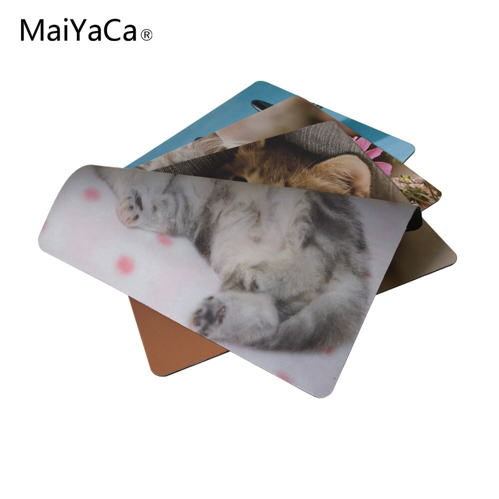MaiYaCa 2017, oferta, lindo gatito persa, nueva almohadilla de goma antideslizante para ratón de tamaño pequeño, 220mmX180mmX2mm y 250mm x 290mm x 2mm