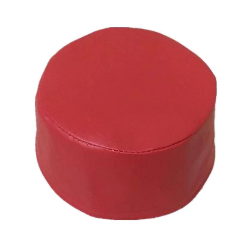 Chapéu de oração de turbante muçulmano de couro vermelho masculino chapéu de oração islâmico bonés arábia saudita egípcia topi gorro