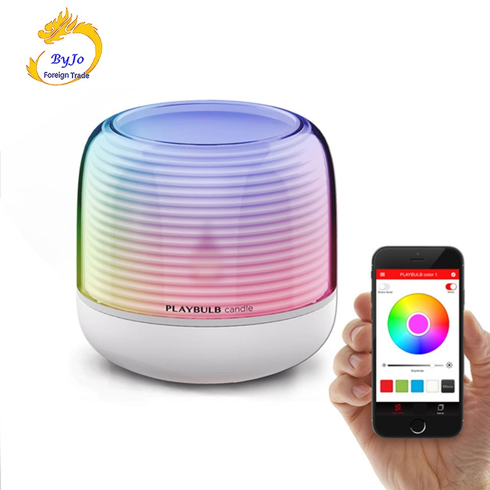 PLAYBULB Smart Remote LED Light Electric Candle LED APP Smart phone Control Dimmable Color Romantic LED light Party Lights MIPOW