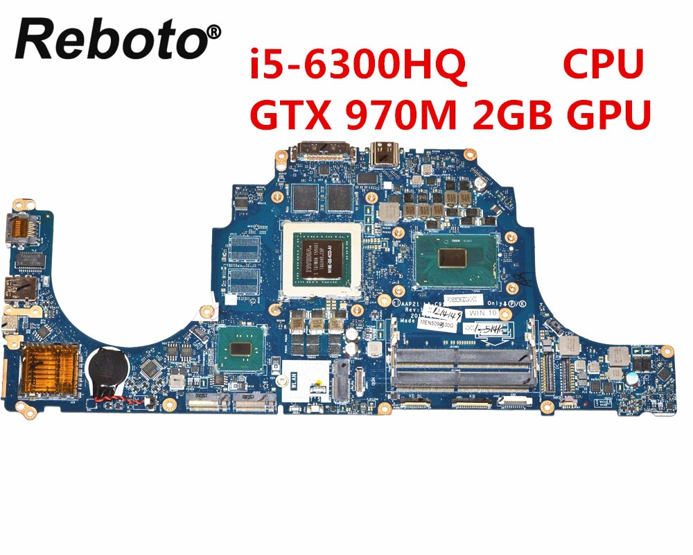 Reboto para Dell Alienware 15 R2 17 R3 placa base de computadora portátil DDR4 LA-C912P 0X1DJ6 X1DJ6 con i5-6300HQ CPU GTX 970M 2GB GPU