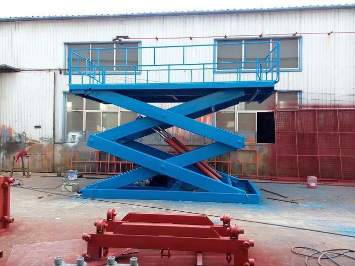 Stationary Scissor Cargo Lift Platform 4t Capacity 5 1m