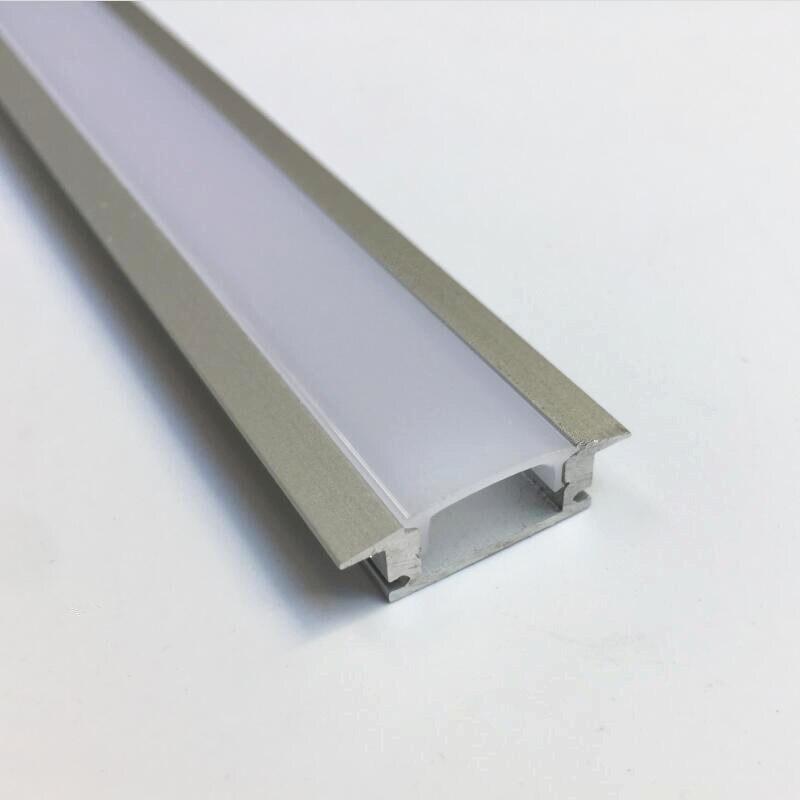 10 Uds. 1 m/Uds. TS08D led perfil de aluminio para tira de luces led canal de aluminio con tira led vivienda