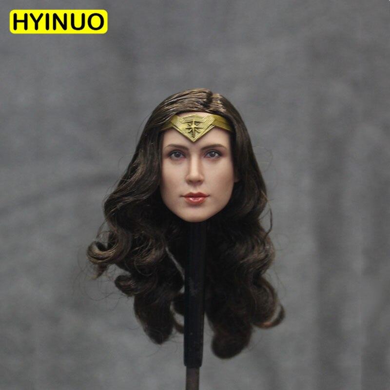 "1/6 Ratio Batman Vs Superman Justice Dawn Gail Gadu Head Carving Wonder Woman Headplay For 12"" Action Figure Body Doll Toys"