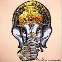Вышитая нашивка со слоном, пайетками, пайетками, наклейками на одежду, сумкой, нашивкой, аппликацией «сделай сам», одеждой «сделай сам» BU104