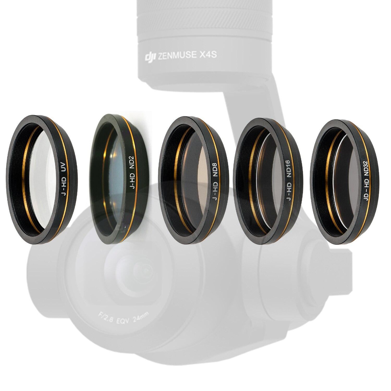 Filtro de lente de densidad Neutral UV ND2 ND8 ND16 ND32 para DJI Zenmuse X4S Gimbal Lens INSPIRE 2, accesorios