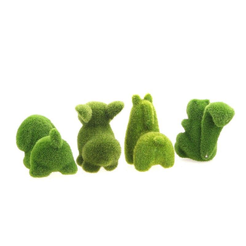 Conejito de Pascua de césped Artificial creativo Artificial falso de emulación Animal piel de flor del jardín de hierba Artificial de la flor