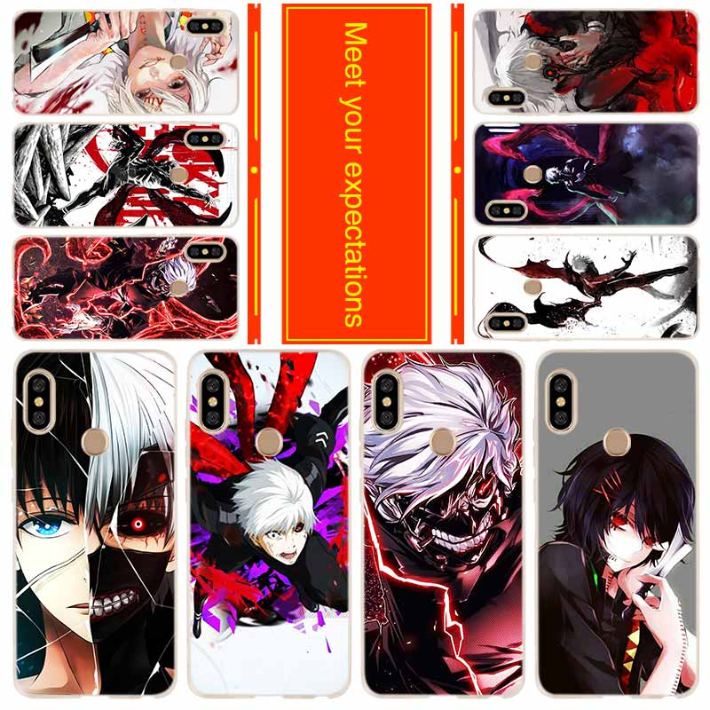 Funda de teléfono para Xiaomi Redmi 8a 7a 6a 5a 5plus 4x Nota 8 7 6 5 9 5a pro 8t cubierta japonés anime Tokyo Ghoul