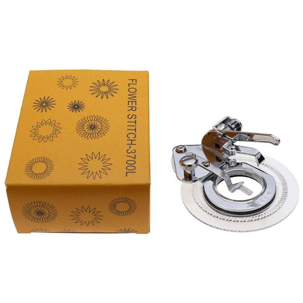 Máquina de coser circular de puntada de flores multifunción, prensatelas de bordado, compatible con todas las máquinas de coser a presión de caña baja