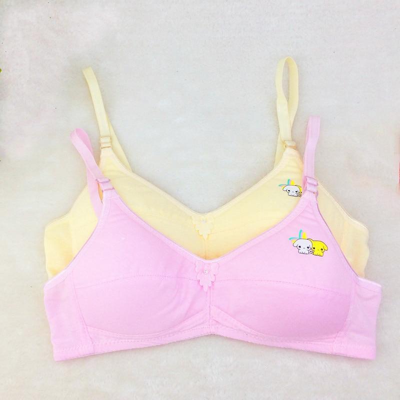 Quality Cotton Teenage Girl Underwear Bow Puberty Students Bra No Steel Bras for Kids Training Bra 3