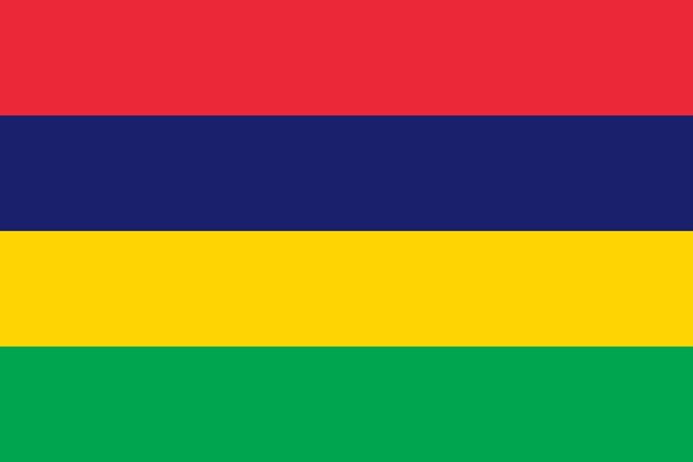 90*150cm Bandera de Mauricio para Decoración