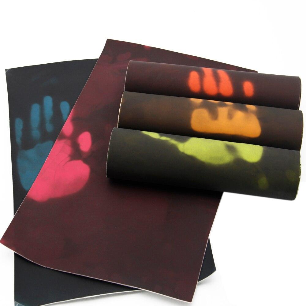 Дэвид Энджи 20*34 см термочувствительный цвет изменить искусственная кожа для DIY Температурный датчик теплового покрытия, 1Yc3781