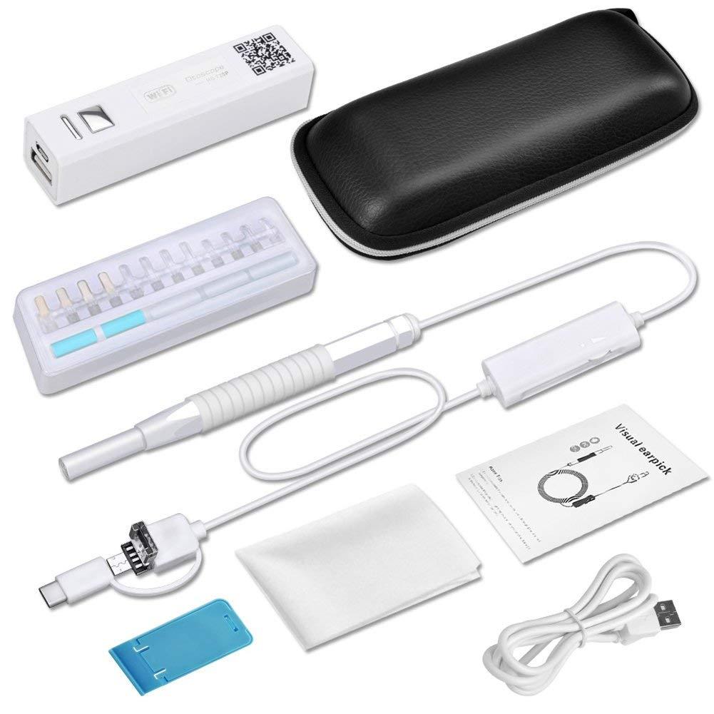 Wi-fi sem fio 5.5 milímetros Ear Endoscópio de Vídeo HD 720 P Câmera de Segurança À Prova D Água IPhone Android Endoscopia Otoscopes Médica
