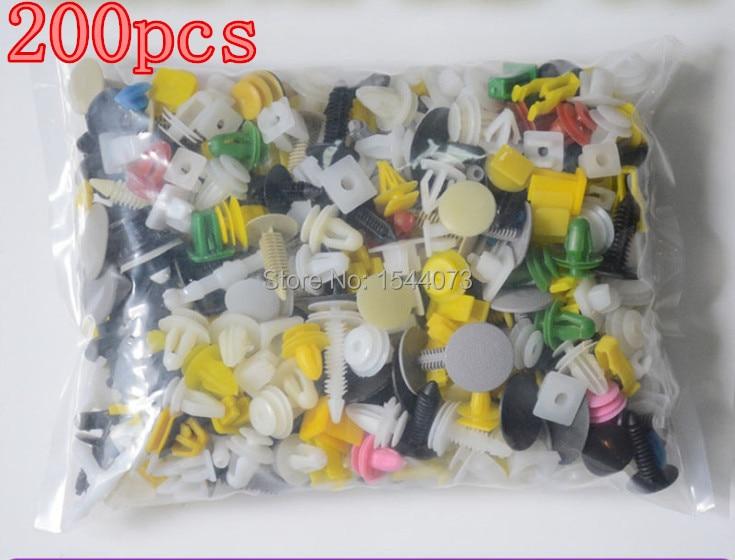 200 piezas de alto Quqaliy mixto sujetador de parachoques de vehículo sujetador...